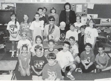 This is a picture of me with students from a West Virginia school.