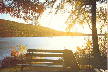 This is a picture of scenic Greenwood Lake in eastern Pennsylvania.
